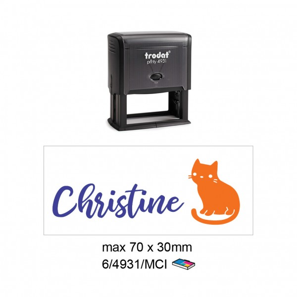 Multi Color Self Inking Stamp 4931, 70x30MM