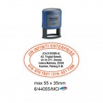 Multi Color Self Inking Stamp 44055, 55x35MM