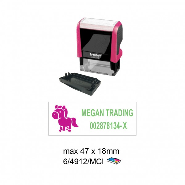Multi Color Self Inking Stamp 4912 , 47x18MM
