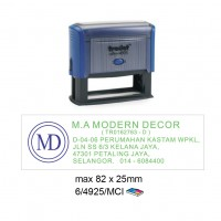Multi Color Self Inking Stamp 4925, 82x25MM