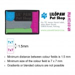 Multi Color Self Inking Stamp 9511, 38x14mm