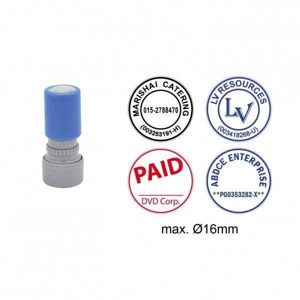 Pre-Inked Stamp MYR16, 16mm