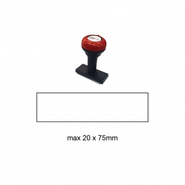 Hand Stamp MS2075R , 20x75mm