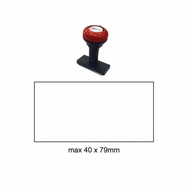 Hand Stamp MS4079R , 40x79mm