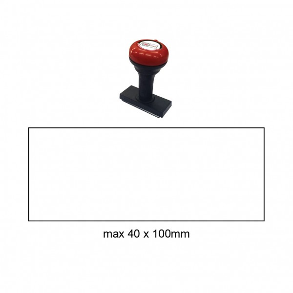 Hand Stamp MS40100R, 40x100mm
