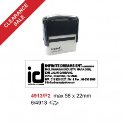 Trodat 4913/P2 Self Inking Stamp 58x22mm