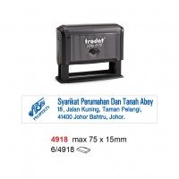 Trodat 4918 Self Inking Stamp 75x15mm