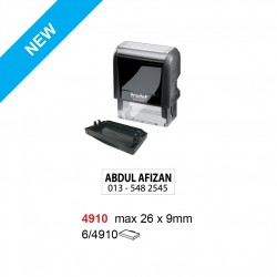 Trodat 4910 Self Inking Stamp 26x9mm