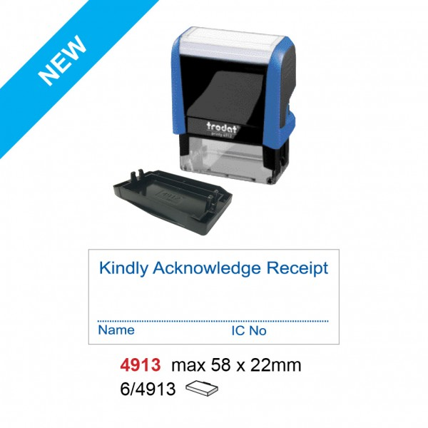 Trodat 4913 Self Inking Stamp 58x22mm
