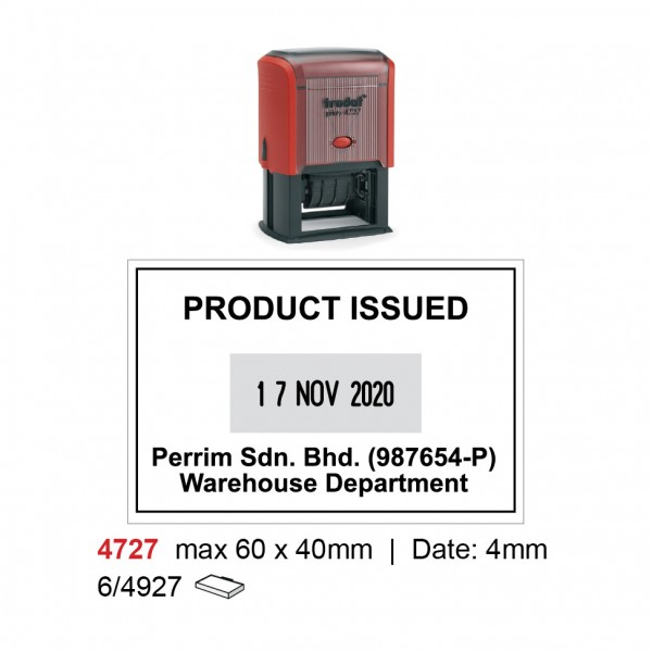 Self Inking Date Stamp 4727 60x40mm
