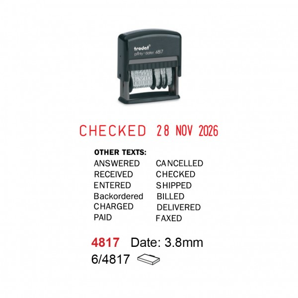 Self Inking Date Stamp 4817