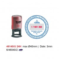 Self Inking Date Stamp 46140/U 24Hour 40mm