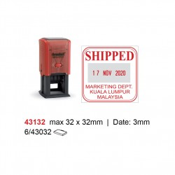 Self Inking Date Stamp 43132 32x32m