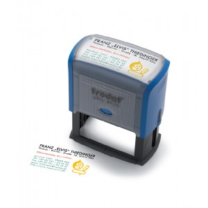 Multi Color Text Stamp