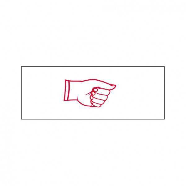 Right Hand Sign Stock Stamp OS-27, 38x14mm